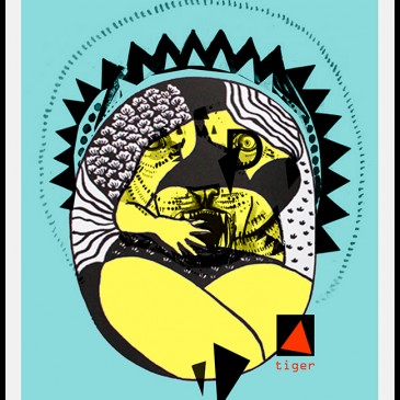 Carte postale d'août création JuliaD.    BIKINI#BLEU LAGON#SOLEIL TIGRE#SABLE FIN