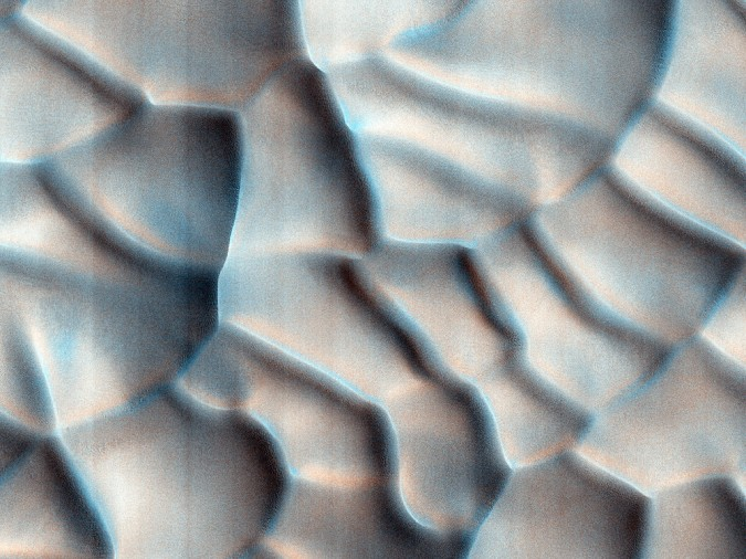 surface de Mars, avec la permission de HiRISE