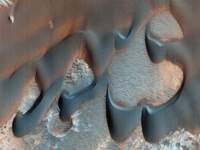 surface de Mars, avec la permission de HiRISE11