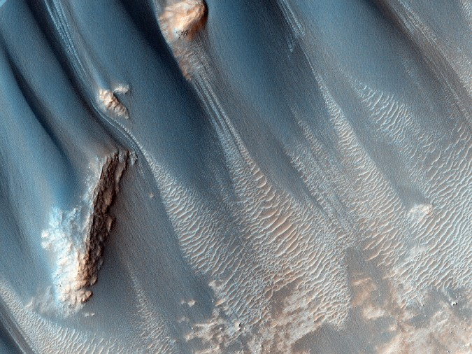 surface de Mars, avec la permission de HiRISE12