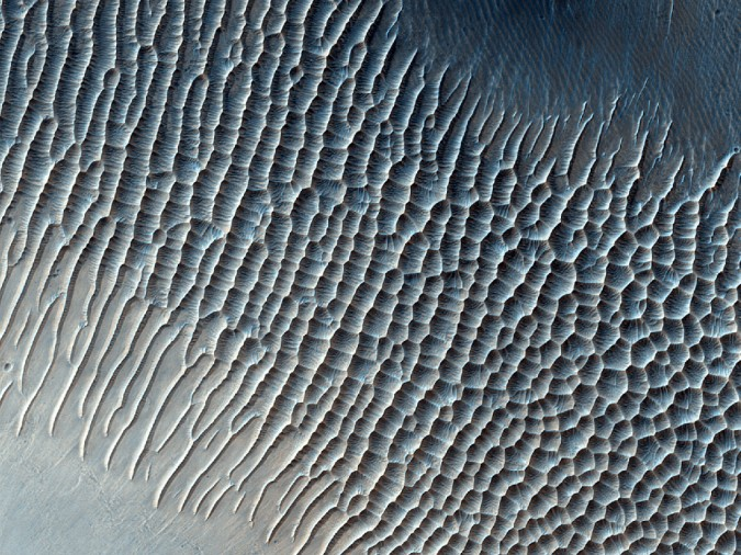 surface de Mars, avec la permission de HiRISE6