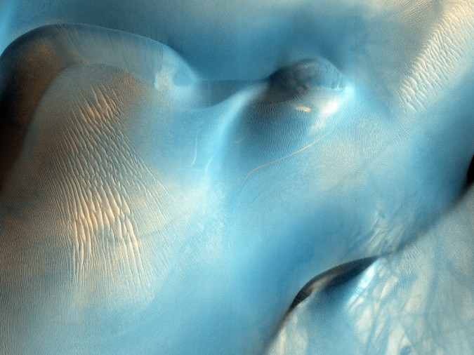 surface de Mars, avec la permission de HiRISE7