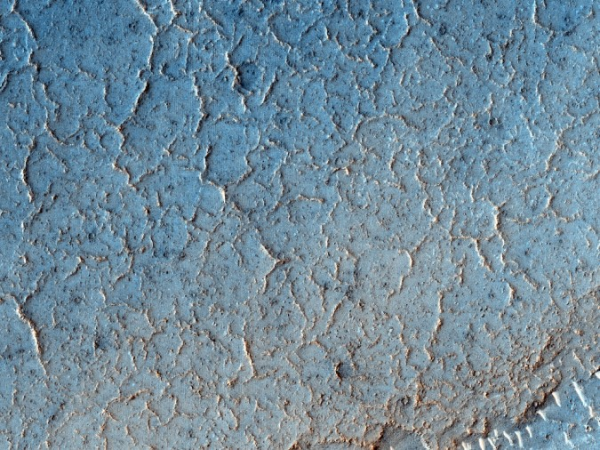 surface de Mars, avec la permission de HiRISE8