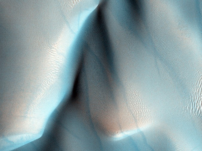 surface de Mars, avec la permission de HiRISE9