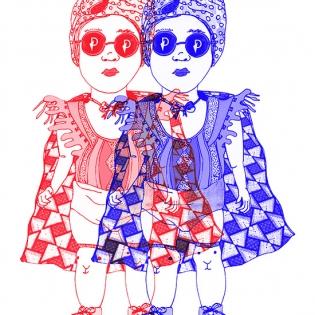 petit chaperon rouge twins juliad creation